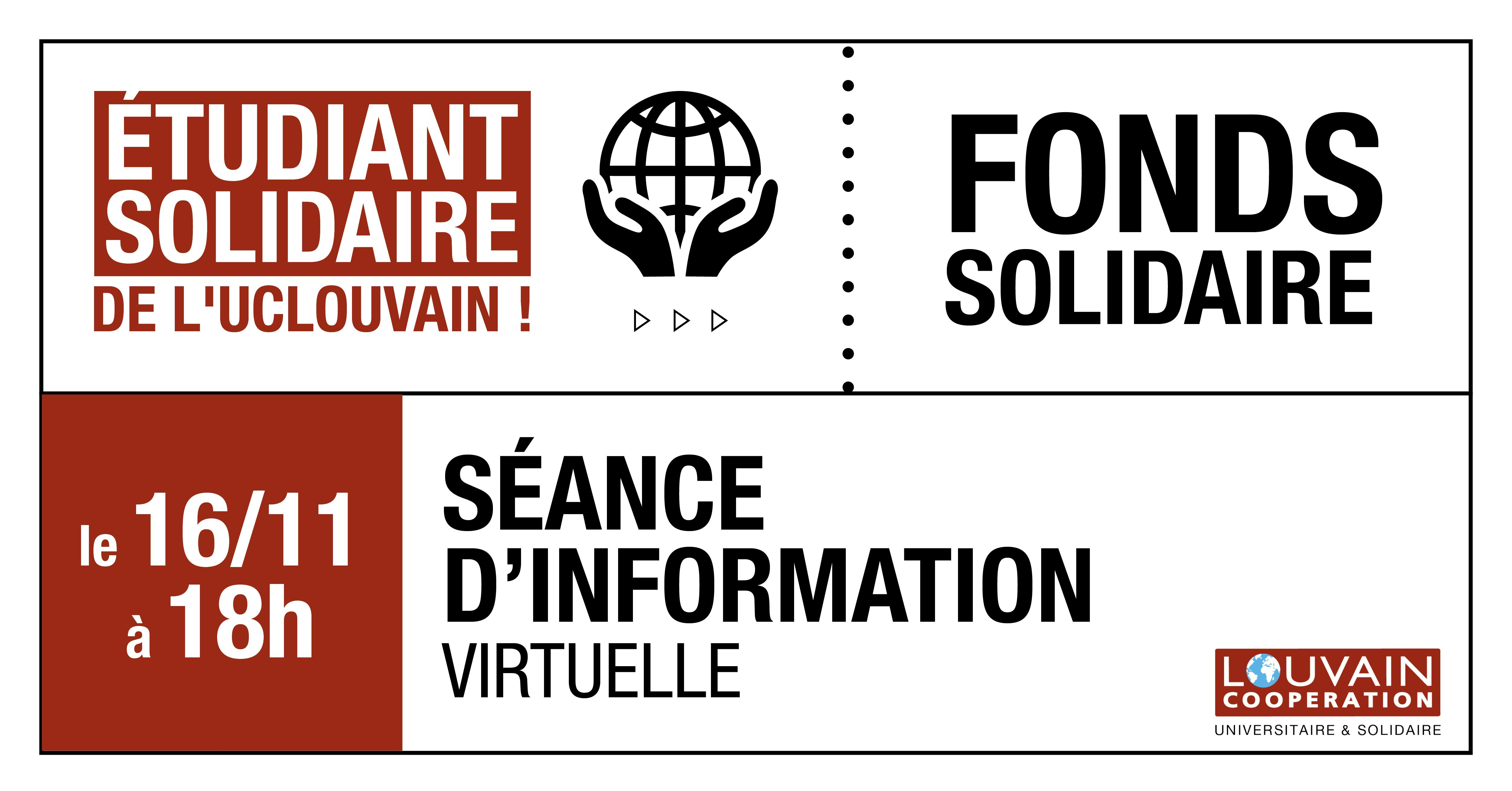 Fonds Solidaire : Séance d'information virtuelle